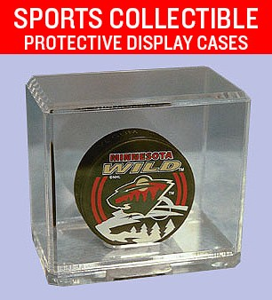 Sports Collectible Protective Display Cases  - Custom Plastic