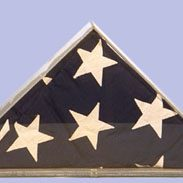 "F160 – $52.50 Commemorative Flag - Folded Flag Cases 22""w, 11""h, 4.5""d"