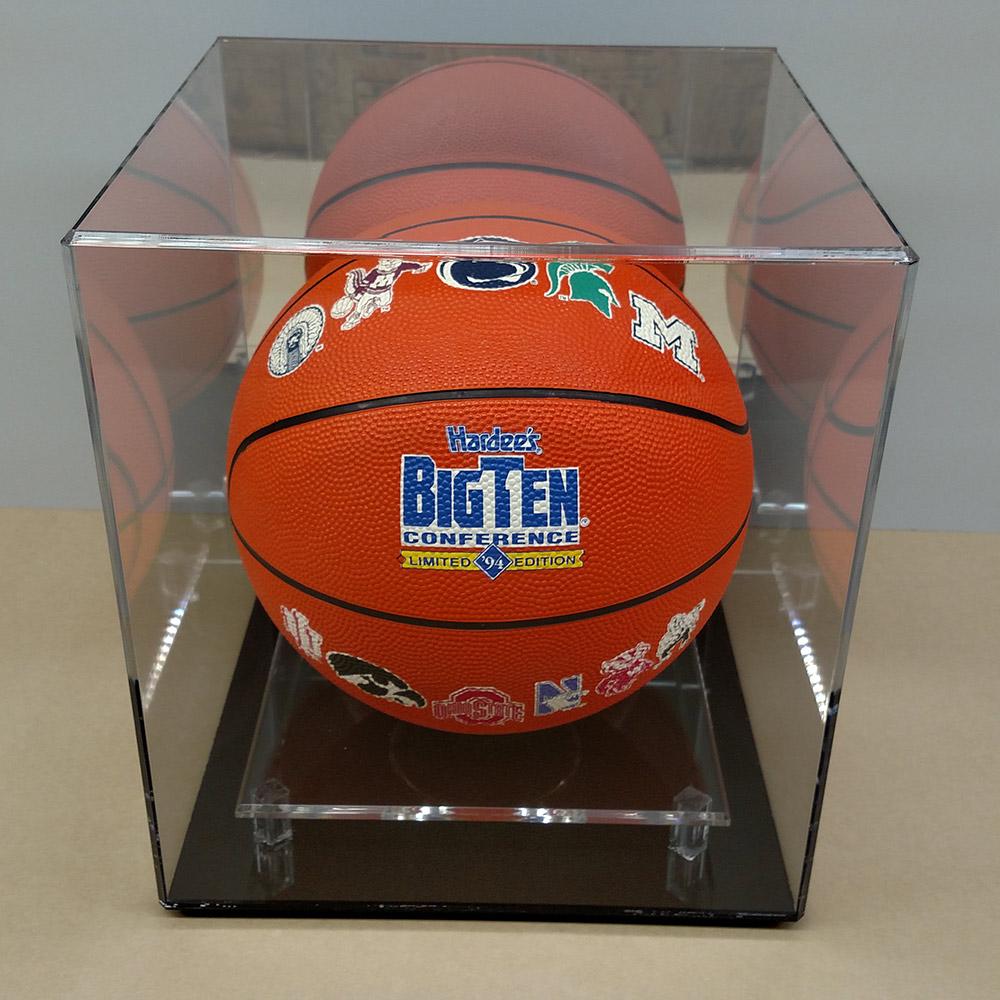 regulation size basketball case hockey puck display case - Basketball Display Case