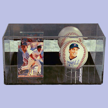 Regulation Size Baseball and Baseball Card Case